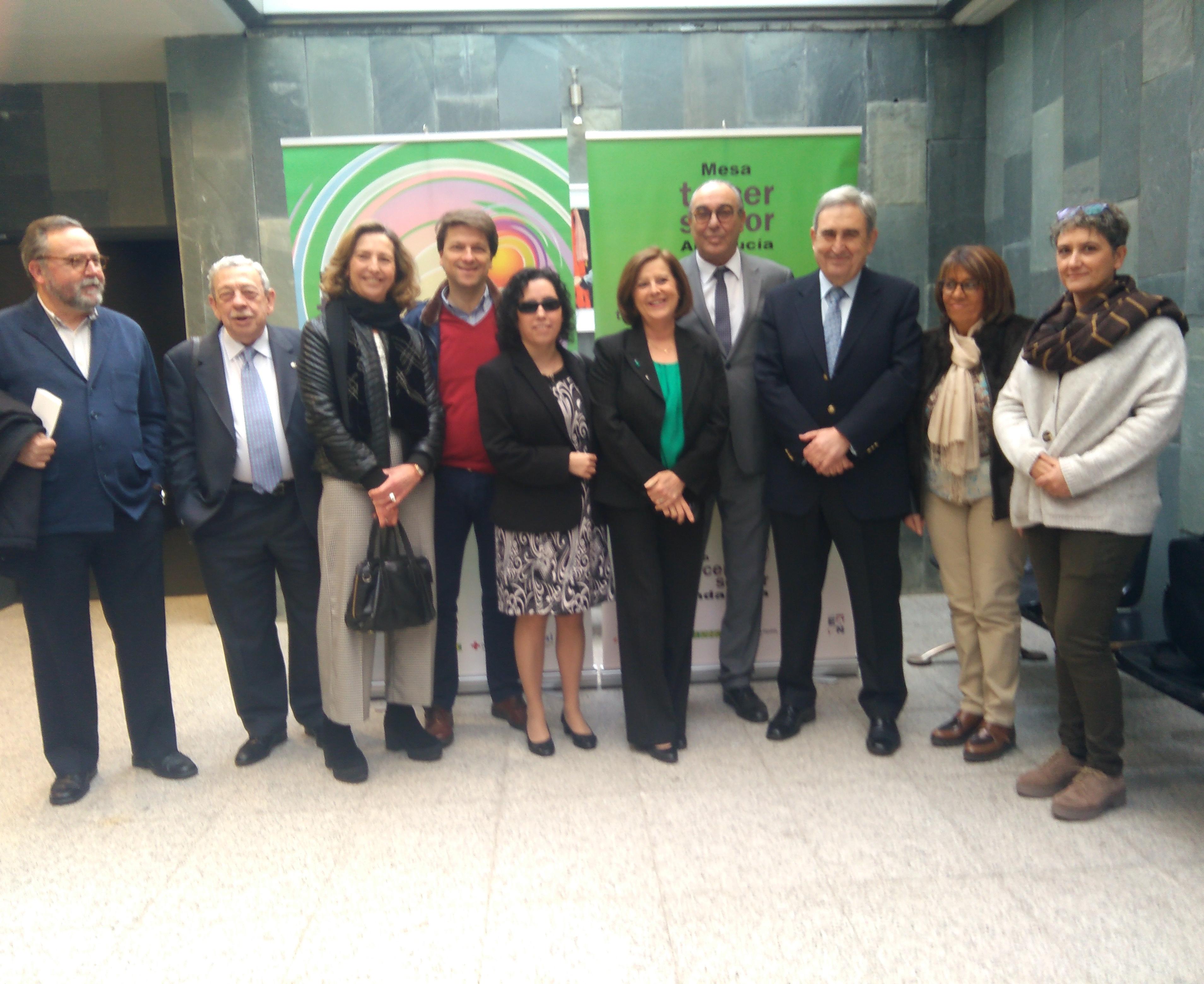 Recepción de la jornada 'La nueva Ley de Servicios Sociales en Andalucía y el Tercer Sector'