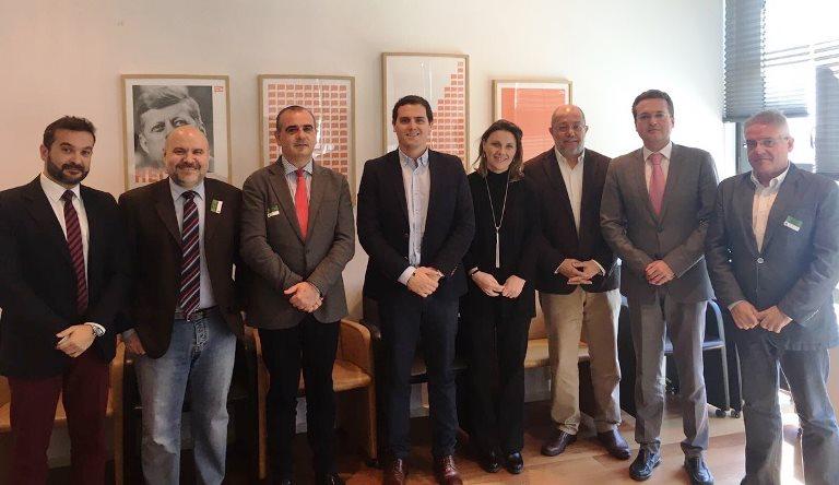 Responsables de la Plataforma del Tercer Sector trasladan al presidente de Ciudadanos su preocupación por el futuro de la financiación de las entidades sociales
