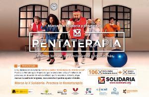 Rentaterapia, cartel de la campaña de la X solidaria