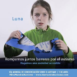 Imagen de la campaña Rompamos juntos barreras por el autismo