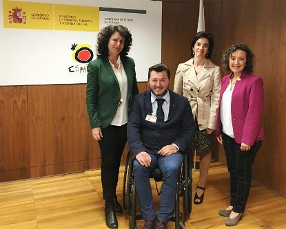 La Comisión de Ocio y Turismo Inclusivo de CERMI se reúne con la nueva secretaria de Estado de Turismo, Matilde Asián