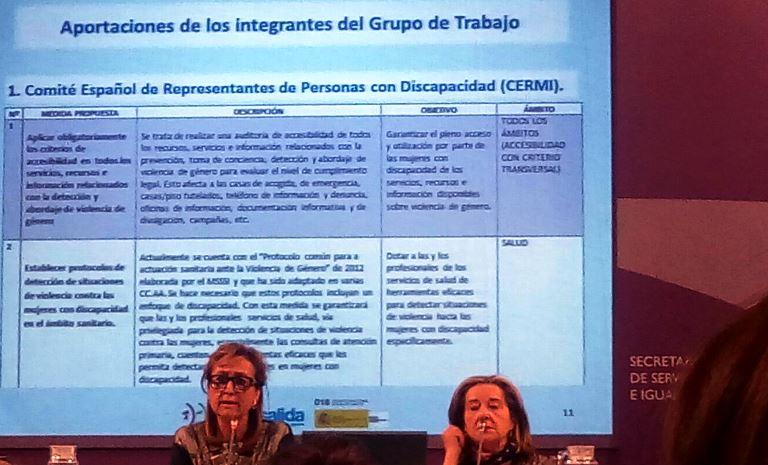 Comienzan las reuniones del grupo de trabajo sobre el pacto de Estado contra la violencia de género con la participación de la Fundación CERMI Mujeres y el CERMI
