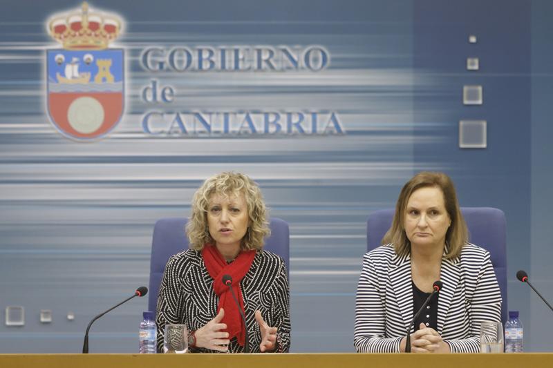 La vicepresidenta del Gobierno de Cantabria, Eva Díaz Tezanos, y la presidenta de CERMI Cantabria, Mar Arruti (Foto: Raul Lucio)