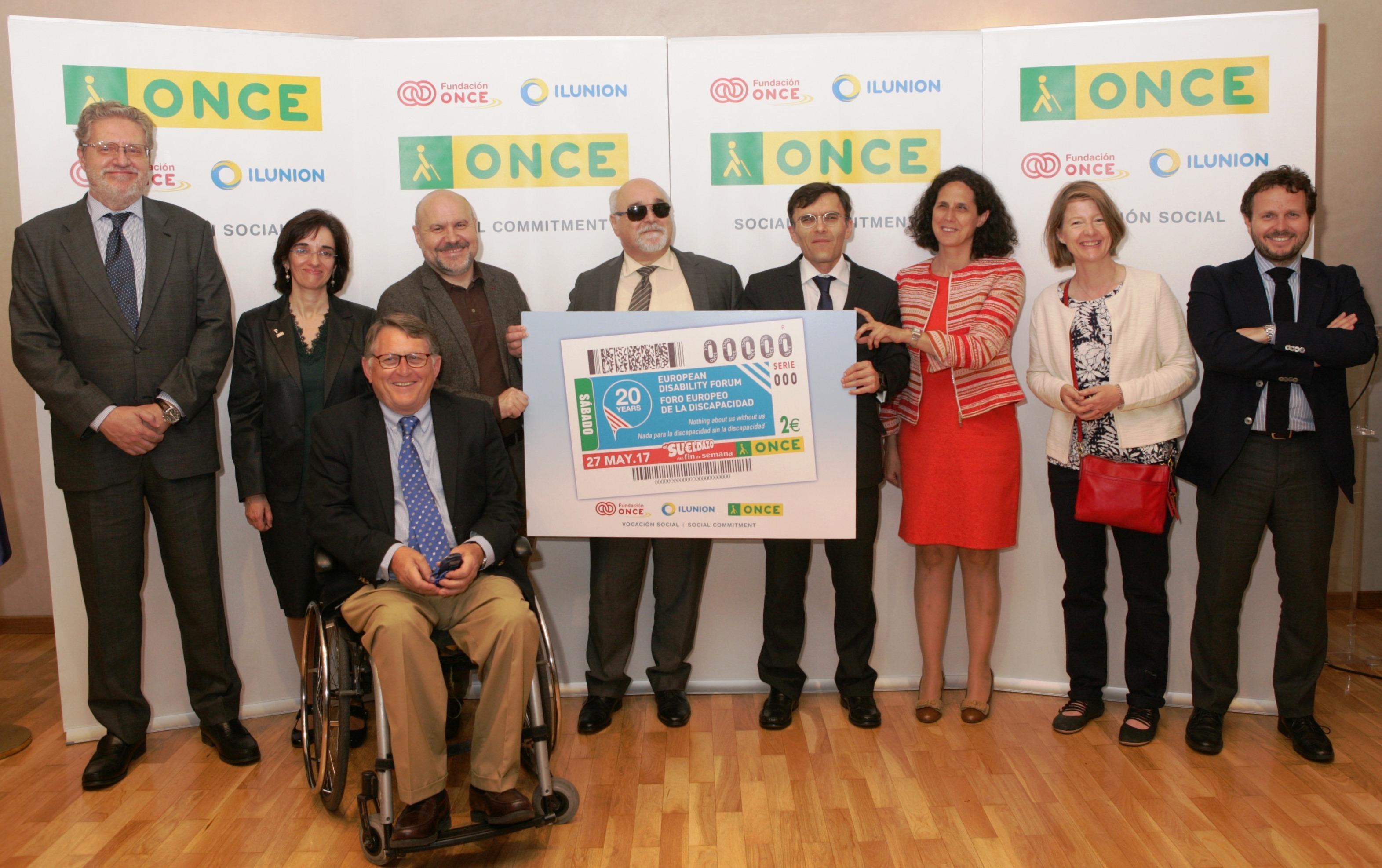 La ONCE dedica un cupón al 20 aniversario del Foro Europeo de la Discapacidad