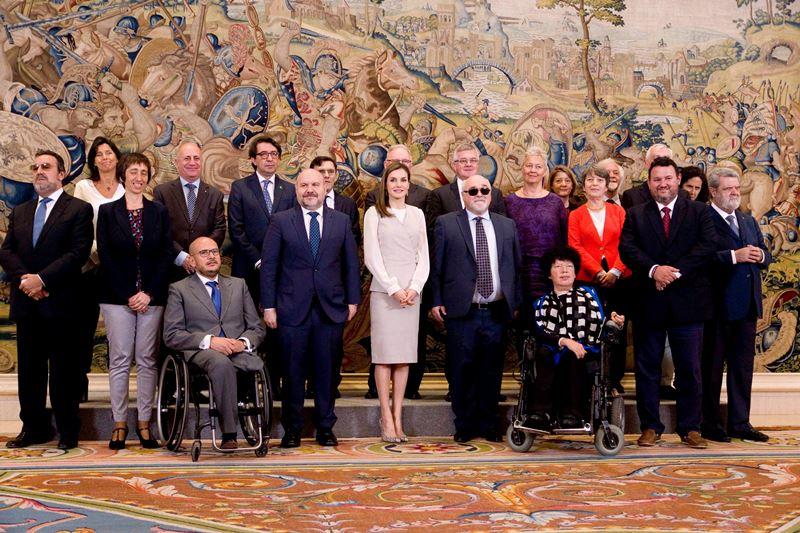 La Reina recibe a la discapacidad española y europea