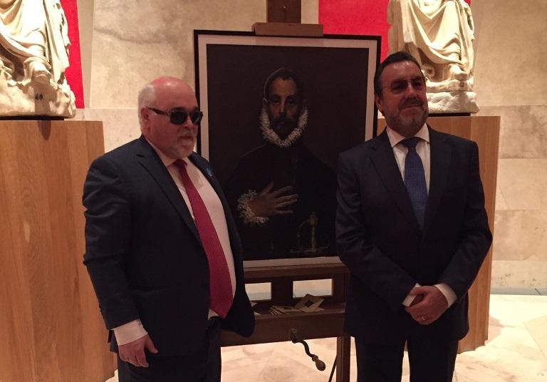 El presidente del EDF y de ONCE durante una visita guiada en el Museo del Prado