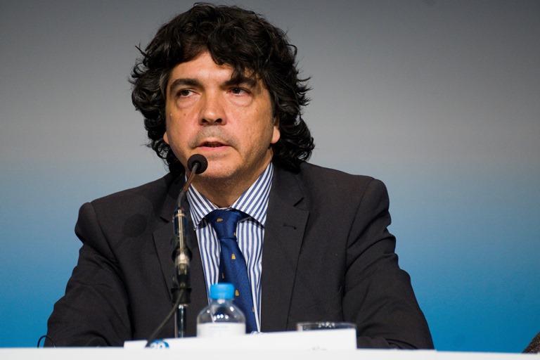 Mario Garcés durante su intervención en la inauguración de la Asamblea General Anual del EDF, celebrada en España