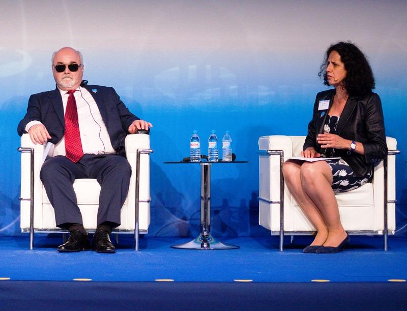 Ana Pélaez, nueva vicepresidenta deL edf y Yannis Vardakastanis, que repetirá de nuevo presidente