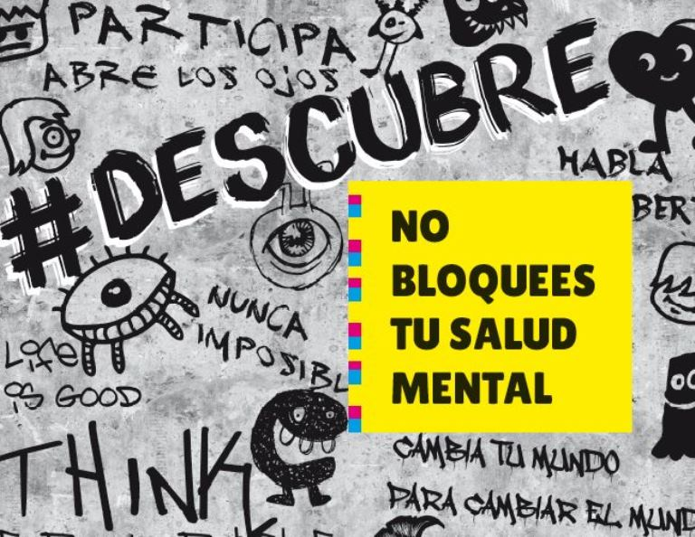 Detalle de la portada de la campaña 'No bloquees tu salud mental' de la Confederación Salud Mental España