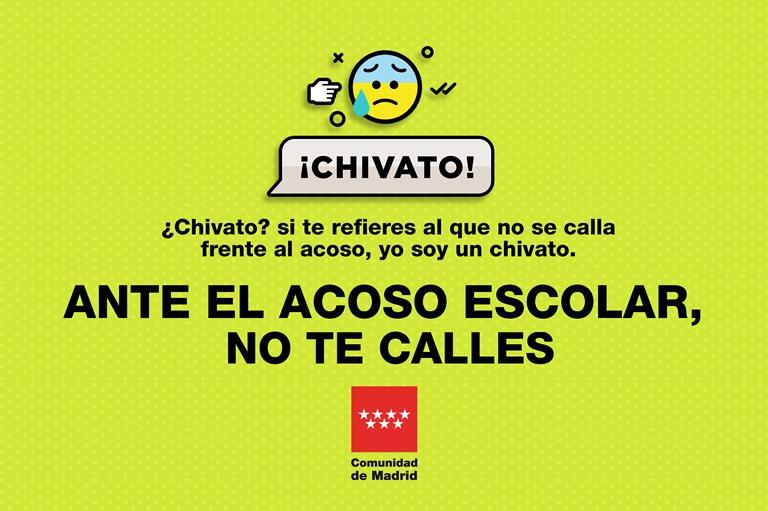 Detalle de la campaña de acoso escolar de la Comunidad de Madrid