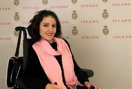 Virginia Felipe Saelices, senadora de Podemos por Castilla-La Mancha y miembro del Comité de Apoyo del CERMI para la CDPD