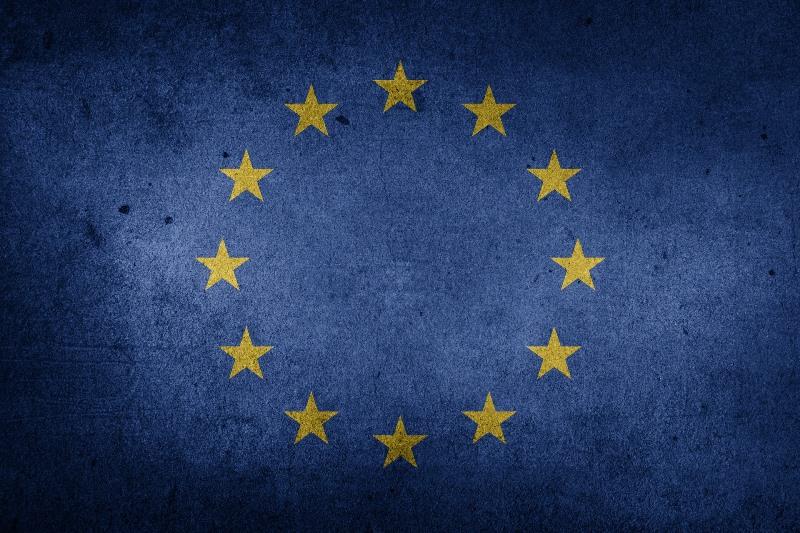 Bandera descolorida de la UE
