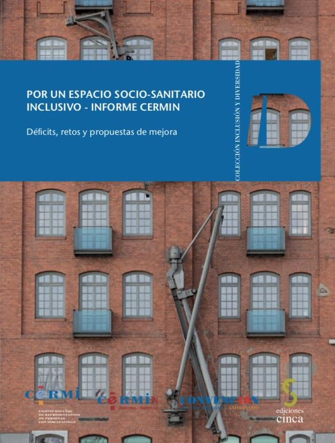 """Portada de la publicación """"Por un espacio socio-sanitario inclusivo. Informe CERMIN"""""""