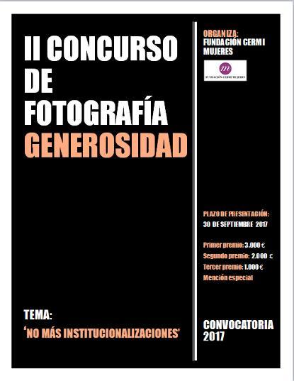 La Fundación CERMI Mujeres convoca el II Concurso de Fotografía 'Generosidad' con el lema 'No más institucionalizaciones'
