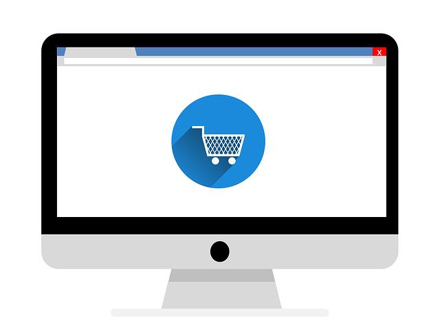 Ilustración de compras online