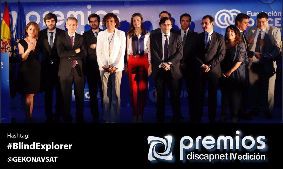 Foto de familia de la entrega de la IV Edición de losPremios Discapnet