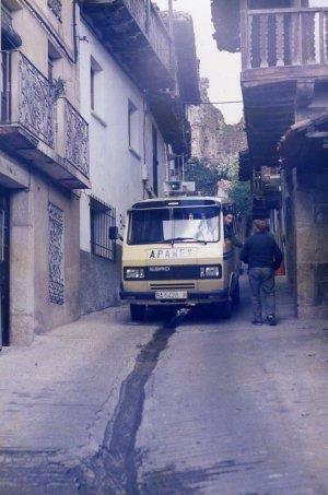 Recorriendo las Hurdes en Cáceres, en 1984