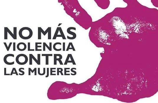 Detalle del logotipo de la campaña 'No más violencia'