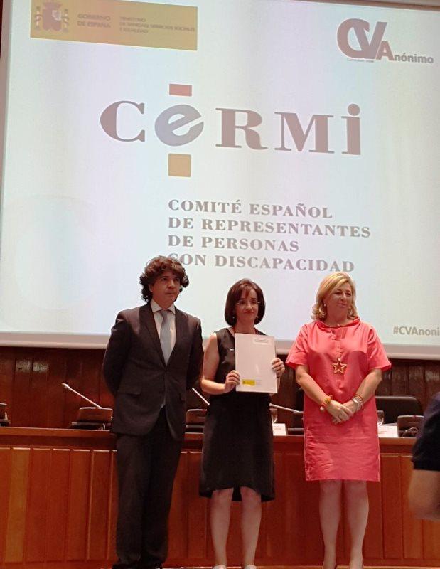 El CERMI se adhiere al proyecto para el diseño, implantación y valoración del currículum vitae anónimo