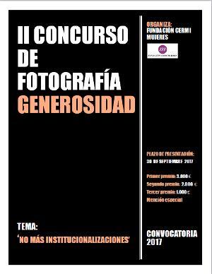 """II Concurso Fotografía Generosidad """"No más institucionalizaciones"""""""
