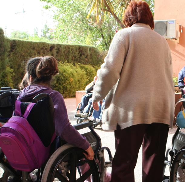 Persona con discapacidad acompañada