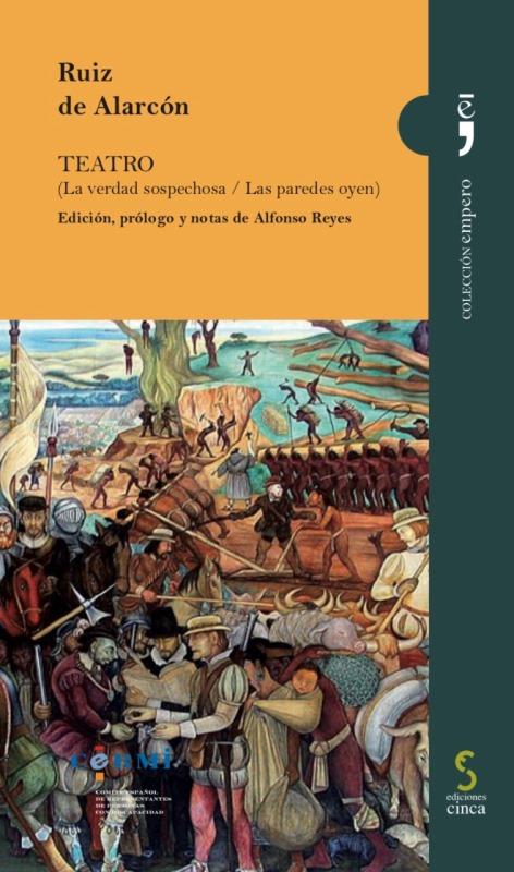 """Portada de """"Teatro"""" de Ruiz de Alarcón, nuevo título de la colección Empero de CERMI"""