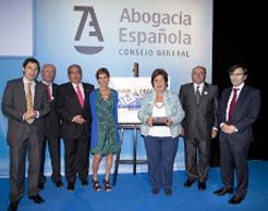 El CGAE homenajea a Cava de Llano, los abogados de Lorca y al CERMI