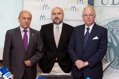 Rueda de prensa del CERMI, CEOMA y UPD
