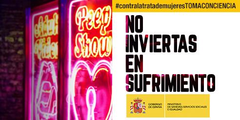 Cartel de la campaña del Estado contra la Explotación Sexual y la Trata de Personas
