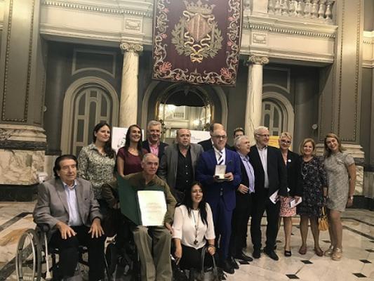 El CERMI CV recibe la Medalla de Oro de la ciudad de Valencia por su trabajo en favor de las personas con discapacidad y sus familias