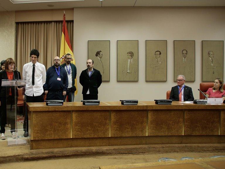 Acto organizado por la Confederación Salud Mental España en el Día Mundial de la Salud Mental en la Sala Constitucional del Congreso de los Diputados