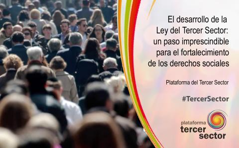 Imagen de la Plataforma del Tercer Sector sobre el desarrollo de la Ley del Tercer Sector