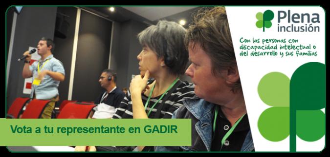 Plena inclusión invita a participar en las elecciones de Gadir