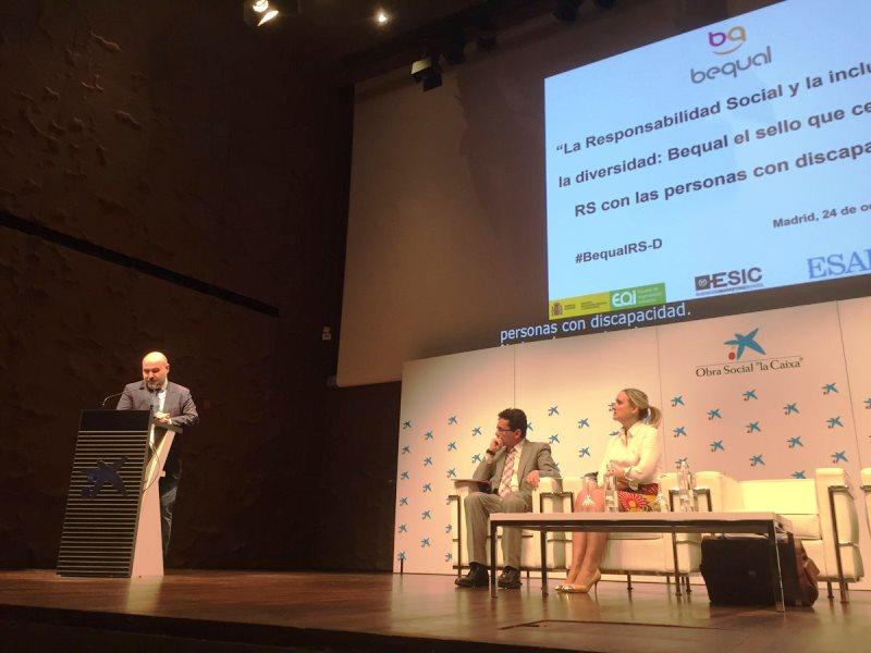 Jornada 'La Responsabilidad Social y la inclusión de la diversidad: Bequal, el sello que certifica la responsabilidad social con las personas con discapacidad'
