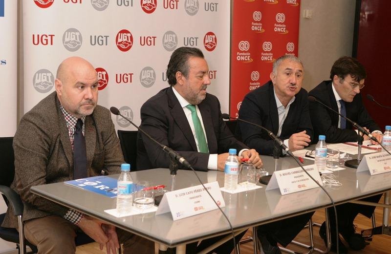 Fundación ONCE, el CERMI y la UGT firman un convenio de colaboración