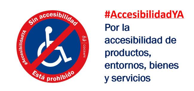 #AccesibilidadYA, lema de la movilización de cocemfe