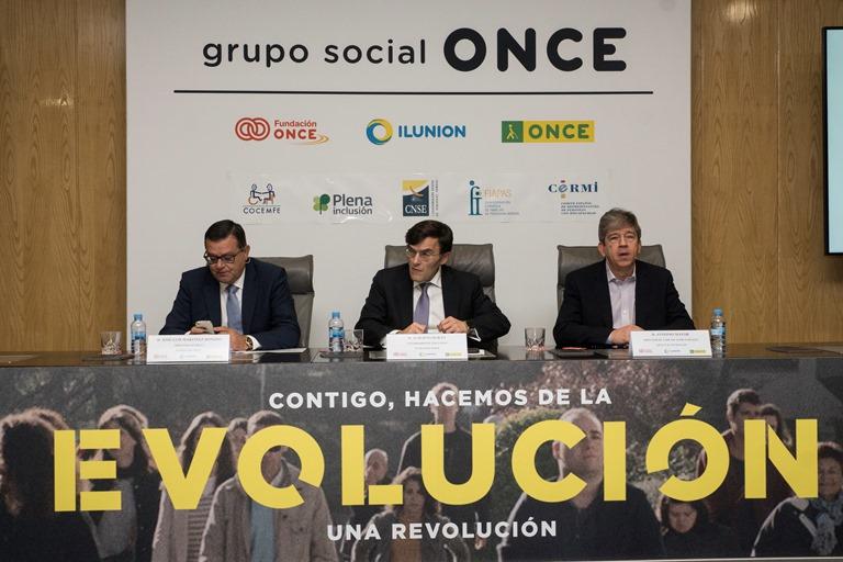 Presentación de la nueva campaña de publicidad institucional de Fundación ONCE, 'Evolución'