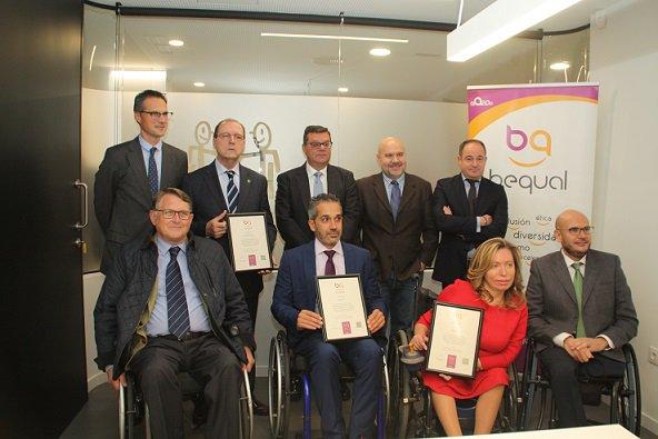 Amiab, CETEO y Fundación CISA, reciben el Sello Bequal Plus, que certifica la gestión profesional y sostenible de estos Centros Especiales de Empleo
