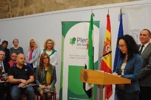 María Casado, con discapacidad cognitiva, en la presentación de la Oacex