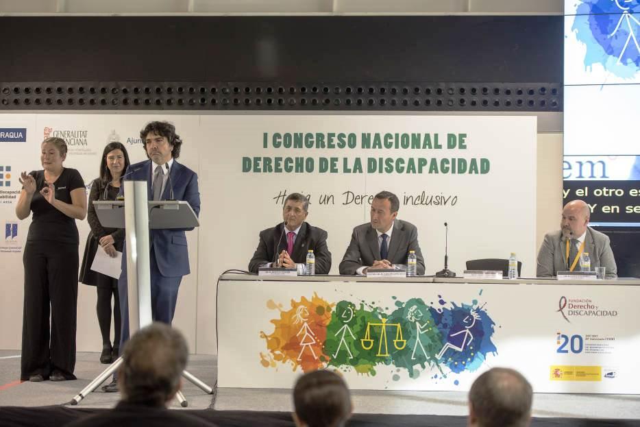 Mesa inaugural del I Congreso Nacional de Derecho de la Discapacidad
