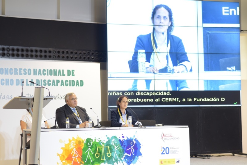 Ana Peláez, vicepresidenta ejecutiva de la Fundación CERMI Mujeres (FCM) durante su intervención en el I Congreso Nacional de Derecho de la Discapacidad