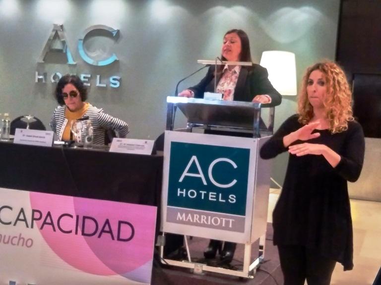 Mª Soledad Cisternas, enviada especial de Naciones Unidas sobre los Derechos de las Personas con Discapacidad y Accesibilidad, en el I Foro Social de Mujeres con Discapacidad