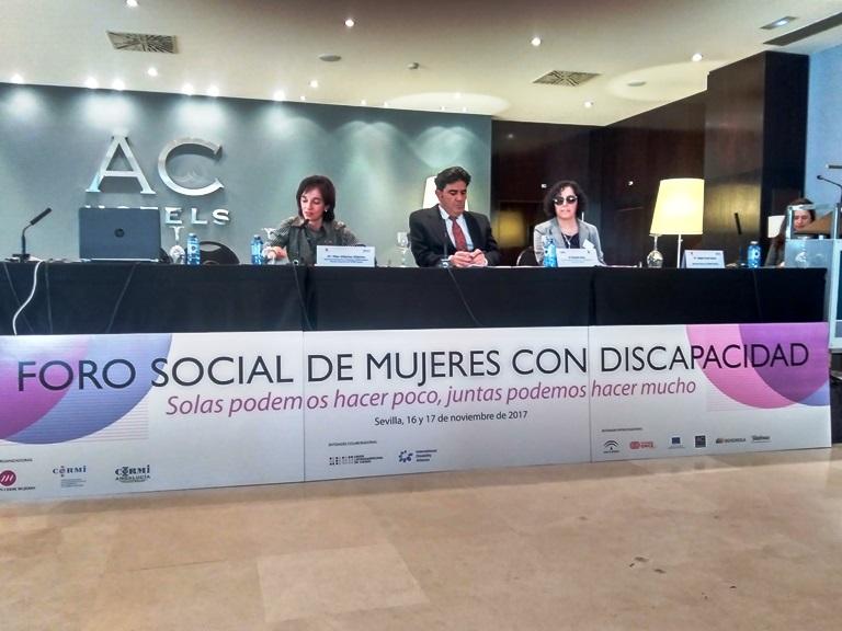 Clausura del I Foro social de mujeres con discapacidad