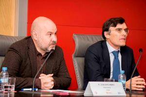 Luis Cayo Pérez Bueno, presidente del CERMI y Alberto Durán, secretario general del CERMI