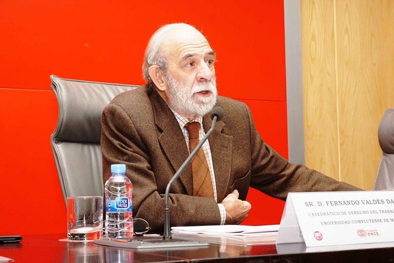 Fernando Valdés Dal-Re, Catedrático de Derecho del Trabajo y de la Seguridad Social de la Universidad Complutense de Madrid
