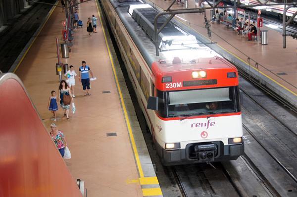 Tren cercanías en Atocha