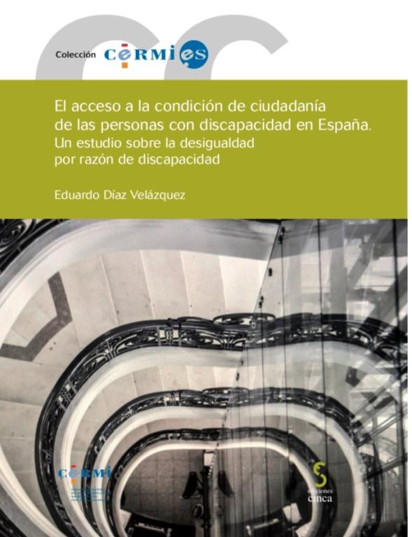 Portada del libro 'El acceso a la condición de ciudadanía de las personas con discapacidad en España', de Eduardo Díaz, sociólogo