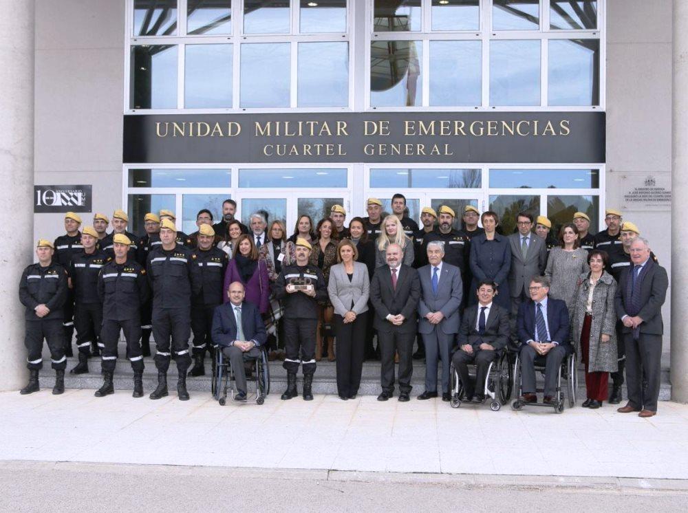 El CERMI premia a la UME por su compromiso con las personas con discapacidad en situaciones de emergencia