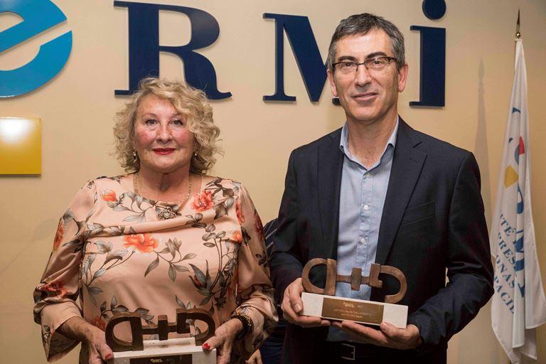 El CERMI premia a Luis Cañón y Maite Lasala por su labor en favor de las personas sordas y con parálisis cerebral, respectivamente