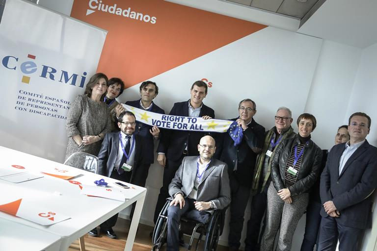 El CERMI traslada a Albert Rivera las principales demandas de las personas con discapacidad y sus familias